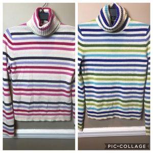 2 Express 100% Cashmere sz M Striped Sweaters